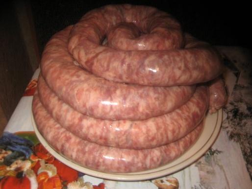 Рецепт. Купаты (домашняя колбаса)