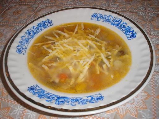 """Рецепт. Суп """"Минестроне"""" овощной с сыром"""