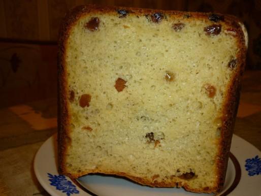 Рецепт. Пасха в хлебопечке с изюмом