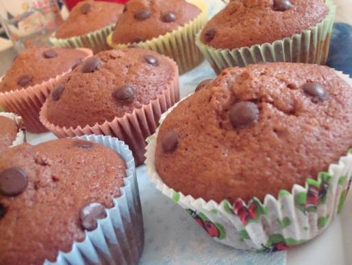 Рецепт. Шоколадные кексы с тыквой