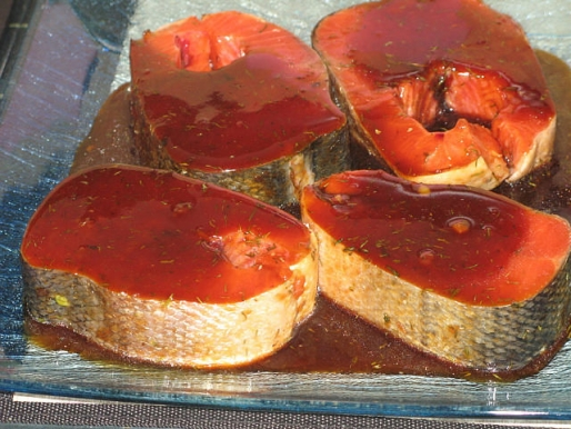 Рецепт. Маринованная рыба для гриля в соевом соусе