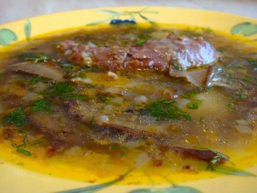 Рецепт. Суп с гречкой и шампиньонами