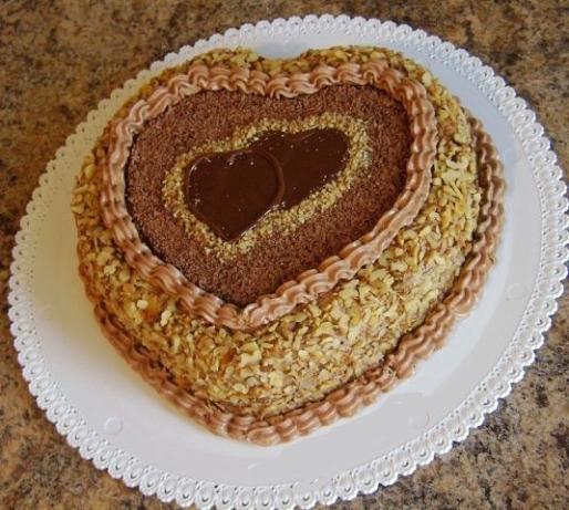 """Рецепт. Торт """"Сердце"""" с черным шоколадом"""