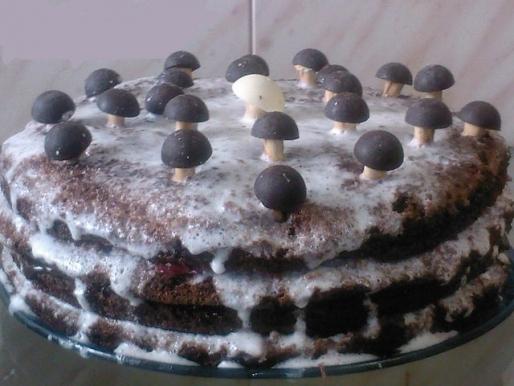 """Рецепт. Торт """"Трухлявый пень"""" с фруктами"""