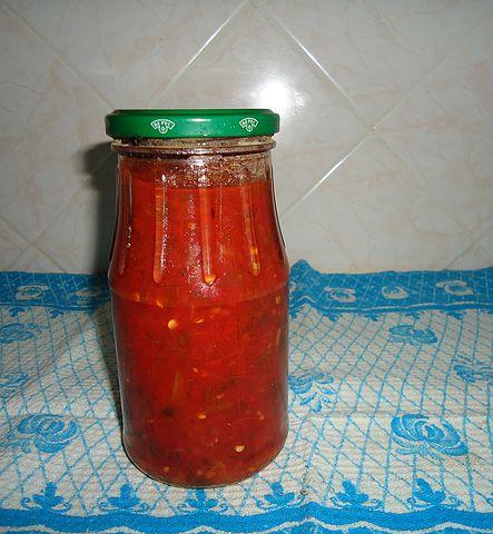 Рецепт. Аджика на зиму варёная (сладкая)