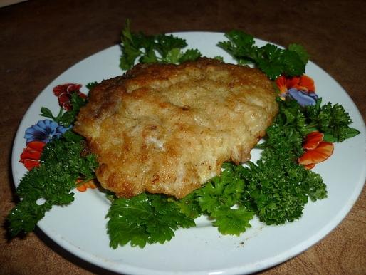 Рецепт. Ромштекс из говядины в сухарях
