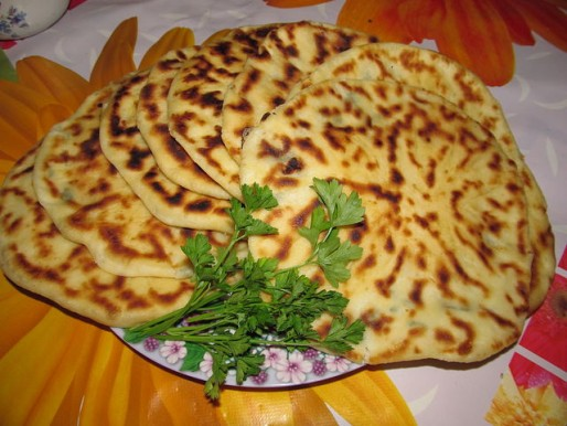 Рецепт. Хачапури с мясом и зеленью