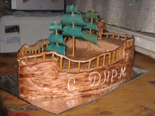 """Рецепт. Торт """"Корабль"""" с шоколадным кремом"""