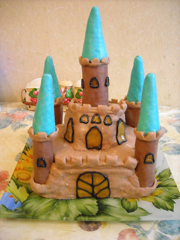 """Рецепт. Торт """"Замок"""" с бисквитными коржами"""