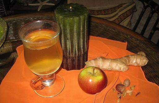 Рецепт. Имбирный чай от простуды