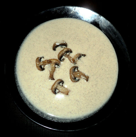 Рецепт. Грибной крем-суп с картофелем