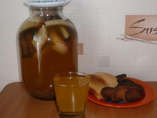 Рецепт. Как сделать хлебный квас в домашних условиях