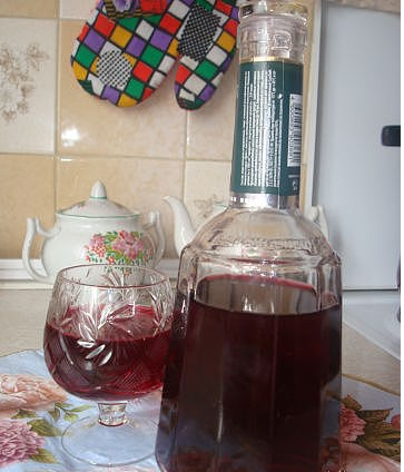 Рецепт. Сливовое вино быстрого приготовления