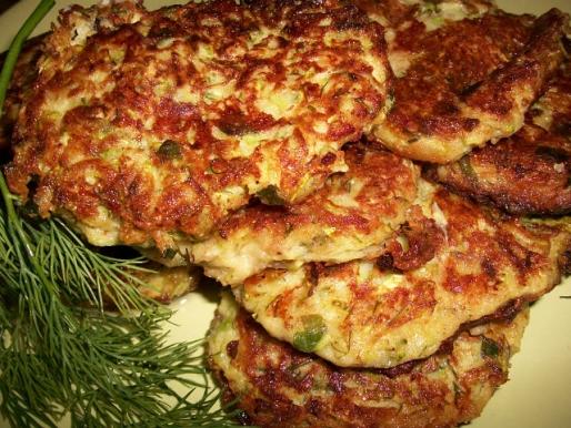 Рецепт. Оладушки из кабачков с зеленью